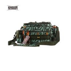 Bolsa de pesca impermeable de Kingdom bolsa de pesca multifuncional al aire libre ajustable a un lado de la cintura hombro llevar Correa Paquete de cintura lyb-13