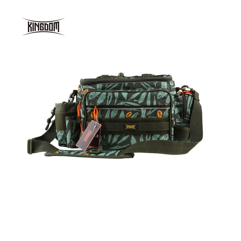 Kingdom pêche sac de pêche étanche multifonctionnel extérieur réglable face taille épaule porter sangle taille Pack lyb-13