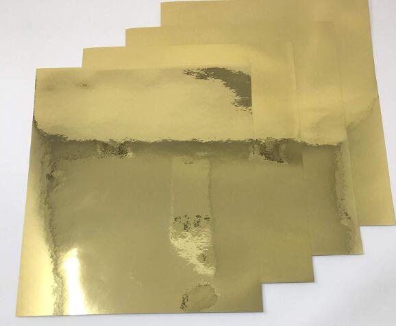 Size A4 Glossy Mirror Golden Self Adhesive Vinyl Label Film Sticker For Scrapbooking Decoration 2/10/30/50pcs You Pick
