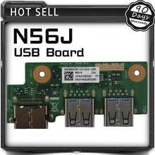 For ASUS N56 N56J N56JN N56JK N56JR USB HDMI board USB Card Laptop Audio USB IO Board Interface Board Tested Well Free Shipping