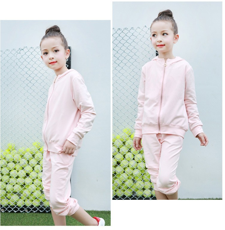 2016 character tracksuits childrens clothing for girls kids hooded hoodies coats pants girl clothes suits gray pink sports sets  5 6 7 8 9 10 11 12 13 14 15 16 years old little big teenage girls clothing set (8)