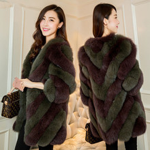 New Year new 2017 Natural Fox Fur Coats for Women Fashion Casual Genuine Fur Outerwear Jacket wholesale