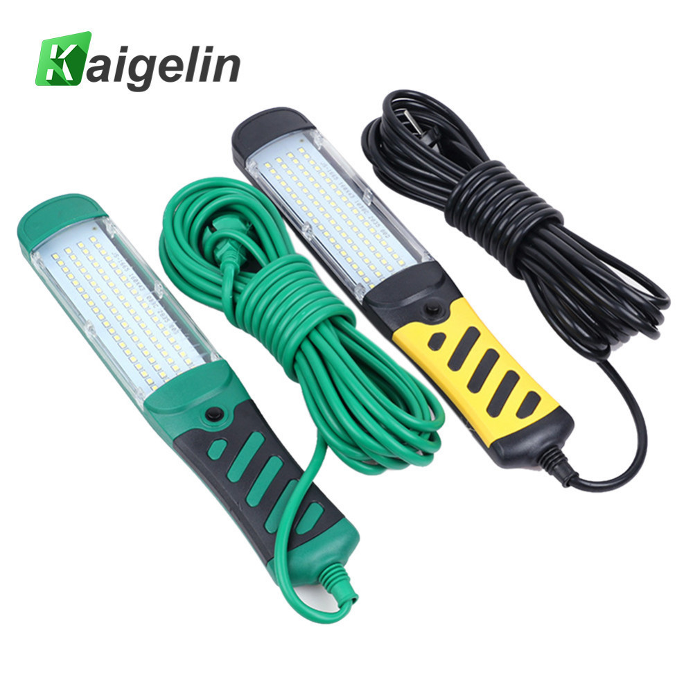 Kaigelin Portable 80 LED Beads Flashlight Magnetic LED Emergency Safety Work Light Car Inspection Repair Handheld Work Lamp