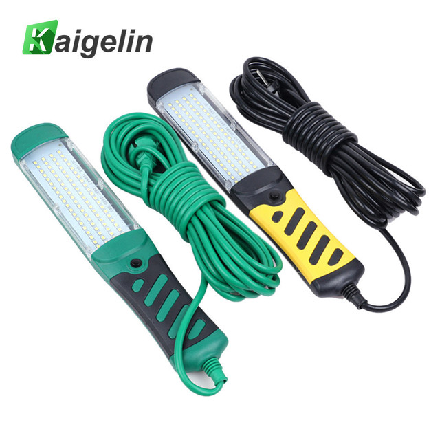 Kaigelin Portable 80 LED Beads Flashlight Magnetic LED Emergency Safety Work Light Car Inspection Repair Handheld Work Lamp