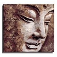Phật Wall Art Con Số Của Đầu Phật Oil Painting Abstract Canvas Nghệ Thuật Cổ Điển Trang Trí Nhà Poster In Retro Gift Ảnh