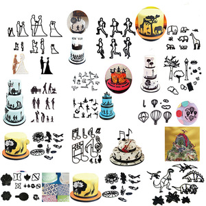 Image 2 - 新しいフォンダンケーキデコレーション金型セットプラスチッククッキーカッター菓子ビスケットベーキングツールの結婚式音楽家族動物バルーン