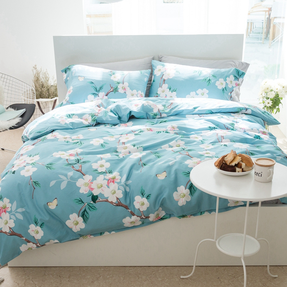 online get cheap nature bedding aliexpresscom  alibaba group - natural egyptian cotton bedding set multisize floral duvet cover brightcolor quilt bed sheet