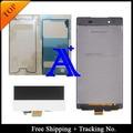 Frete Grátis + N ° de Rastreamento + Cola conjunto Completo 100% testado original Para Sony Xperia Z3 L55T D6603 LCD Conjunto de tela-branco/preto