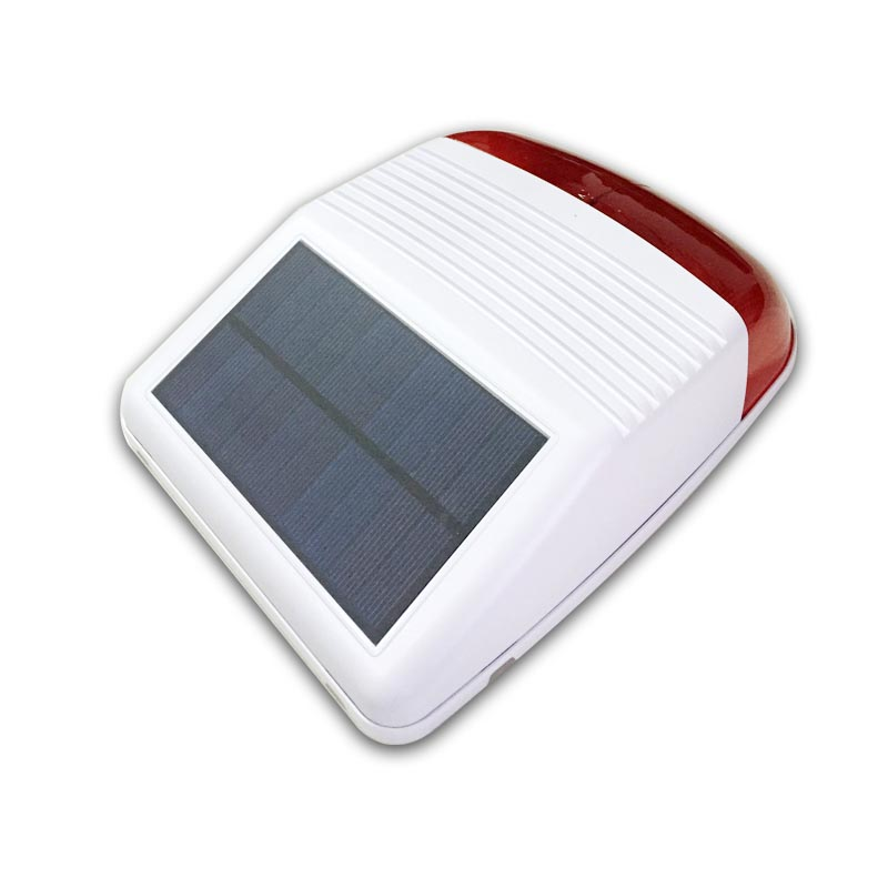 ФОТО 433 MHz outdoor wireless strobe siren solar powered with red flash light 110db for pstn wifi gsm alarm system home security