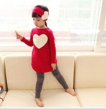 The new spring models Kids Girls love three-piece long-sleeved suit christmas dress girl