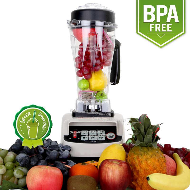 EU/REINO UNIDO/EUA/AU Plug 3HP 2200 w BPA Livre 2L Digtial Automático de Alta Velocidade Liquidificador Elétrico misturador Processador de Alimentos Espremedor de Frutas
