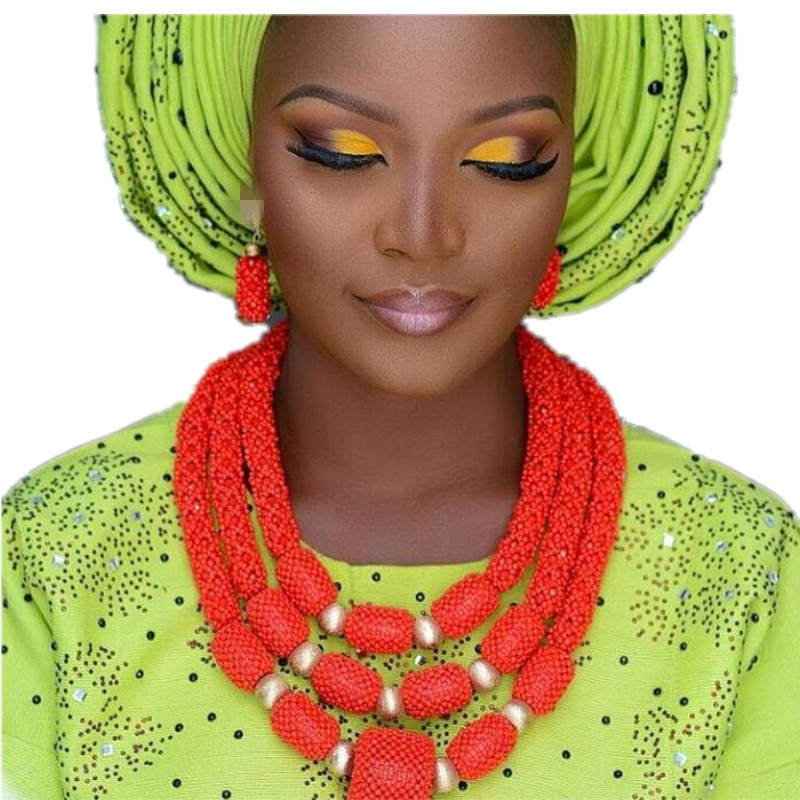 Wedding Jewelry Sets Red Bridal African Necklace Balls Braid Party Nigeria Jewelry Beads Big Dubai Necklace Sets For Women 2018Wedding Jewelry Sets Red Bridal African Necklace Balls Braid Party Nigeria Jewelry Beads Big Dubai Necklace Sets For Women 2018