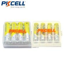 PKCELL 4pcs NiMh AAA 1.2V 1000MAH + 4pcs Ni-MH AA 1.2V 2600mAh Rechargeable Batteries Baterias + 2 AA/AAA Battery Hold Case Box
