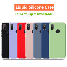 Liquid Silicone case For Samsung Galaxy M30 case M20 M10 Case Soft Gel Rubber Baby-skin High quality  Cover Coque Clear Cases цена