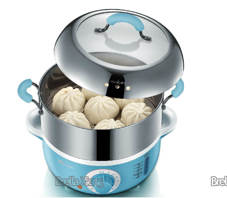 bear brand stainless steel electric food steamer two tiersin electric food steamers from home improvement on alibaba