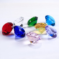8pcs 40mm crystal glass diamond jewelry craft Diamond Crystal Rhinestone Paperweight Wedding Party Favours Home Decoration Gift