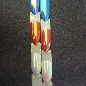 Image 2 - 1 צנצנת פנינה פיגמנט קרמיקה אבקת כרום מראה ציפורניים נייל אמנות GlitterSequins עבור ג ל לק מניקור 1g זהב/לבן/ירוק