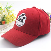 Autumn fall winter new hat Children's cartoon panda cap embroidery cloth baseball hip-hop cap hat free design