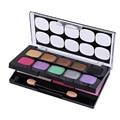 10 Colores Paleta de Sombra de Ojos Ahumada Desnuda Colorete powder Makeup Cosmetic Set 2 capas de Corea Mineral Shimmer Eye Shadow Palette kit