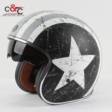 Torc 3/4 открытым лицом старинные scotter jet мотоциклетный шлем мотокросс capacete cascos moto ретро шлем каско vespa para мотокросс