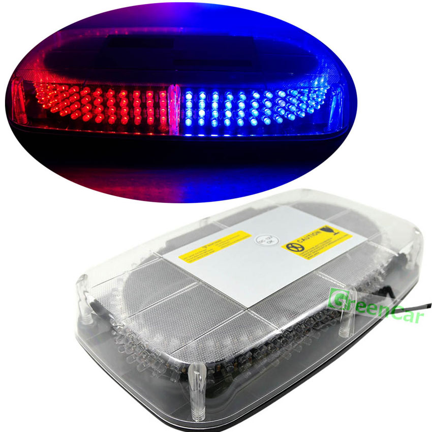 1set 240 LED Car Roof Flashing Strobe Emergency Light DC 12V 20W Truck Police Fireman Warning Lights Blue super bright 12v 24w 4led car strobe flashing emergency light truck police fireman warning led lights for cars amber