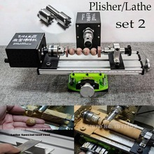 DIY Wood Table Lathe Mini Lathe Machine Beads Plisher for Cutting and Rounding metal didactical DIY