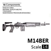 1:6 M14BER Combat Rifle Gun Model Plastic Assemble Action Figures Weapon Accessory 1/6 Soldier Military Building Kit Toy(China)
