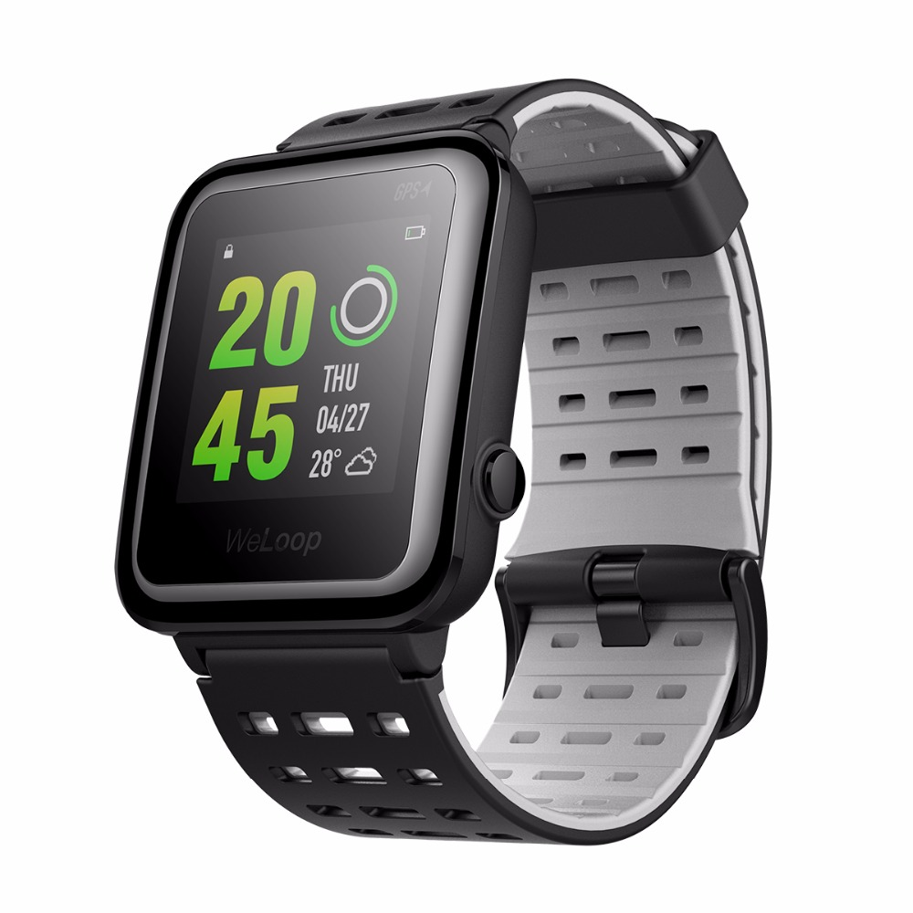 Xiaomi English WeLoop Hey 3S Multi sports GPS Smart Watch Heart Rate Monitor BT4.0 50M Water Resistant Message Push