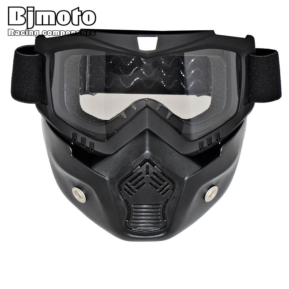 0fdc862aea Motocross Goggles Glasses Face Dust Mask With Detachable Motorcycle Oculos  Gafas And Mouth Filter For Open Face Vintage Helmets Specifications  Adult  ...