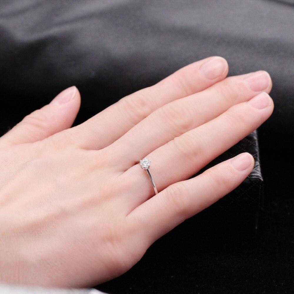 Uloveido 5% Off 925 Sterling Silver Wedding Rings for Women Zircon ...