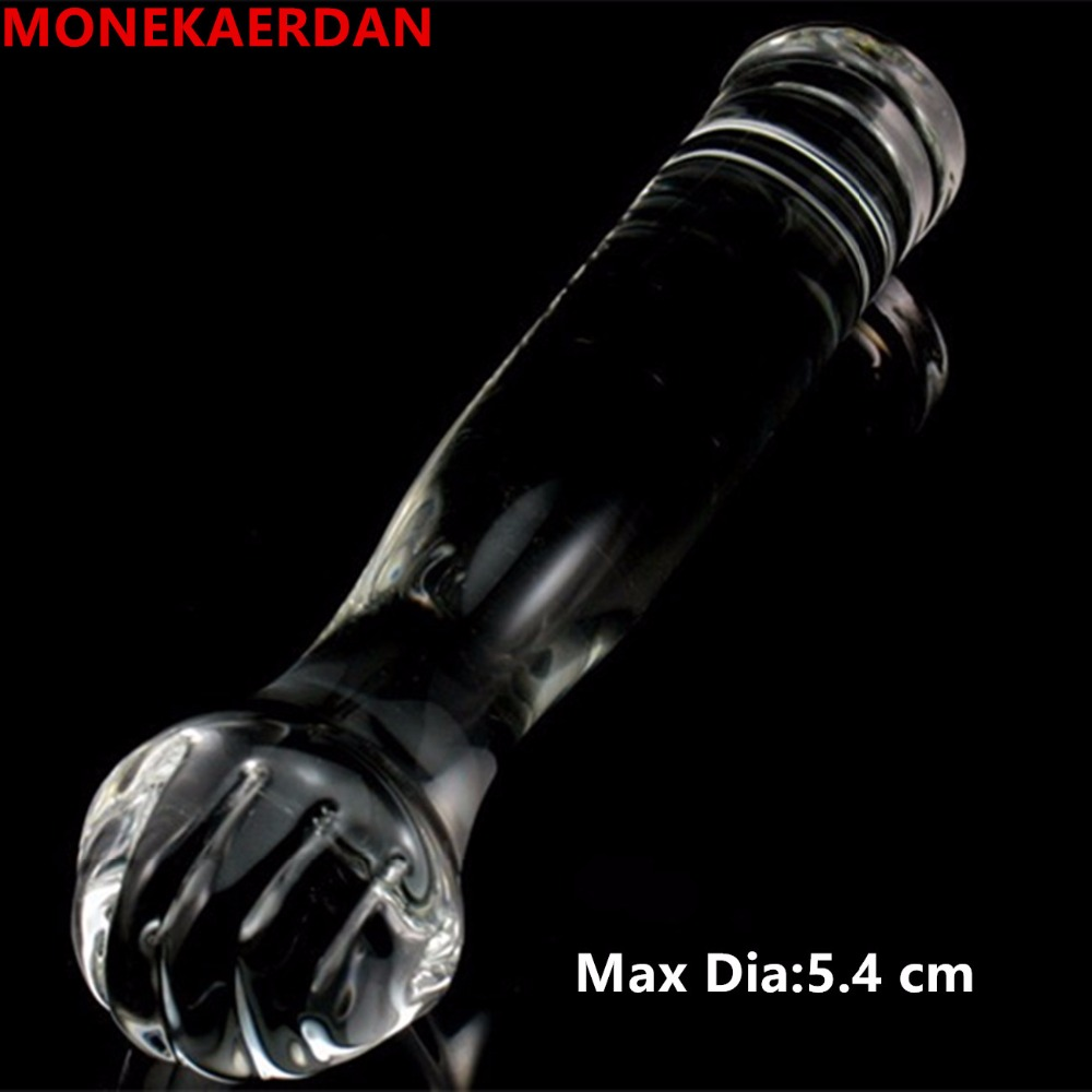 Huge Dildos Large Glass Penis Anal Butt Plug Anus Expand Fist Sex Toys Adult Products For Women And Men Gay - 22*5.4 cm 7 87 5 5inch super big size silicone anal plug toys large butt plug sucker booty beads sex products for men and women