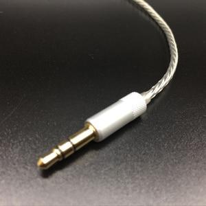 Image 3 - כבל שדרוג רך עבור Sennheets ie80 בציפוי כסף DIY עבור Shure SE535 SE215 אוזניות fone de אוזניות ouvido