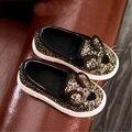 Sapatas dos miúdos sapatos meninas gato bonito dos desenhos animados meninas mocassins criança moda bling do único sapatos meninas sapatilhas novas sapatas dos miúdos para menina