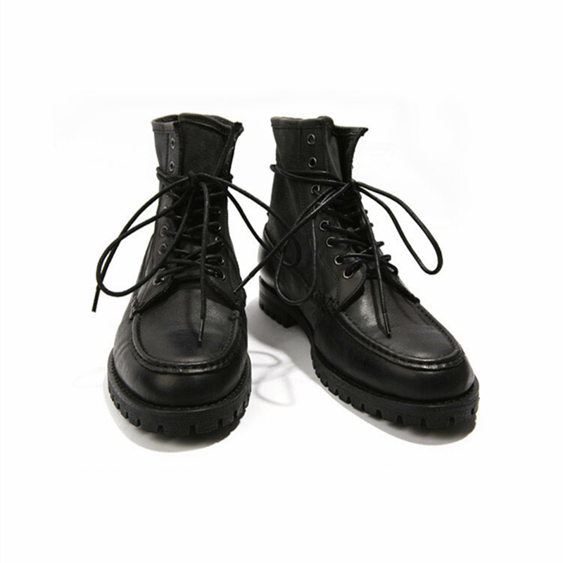 0e9a6a06e7655 US 6 10 Top Real Leather Mens Lace Up Motorcycle Style Military Boots  Casual Winter Shoes on Aliexpress.com   Alibaba Group