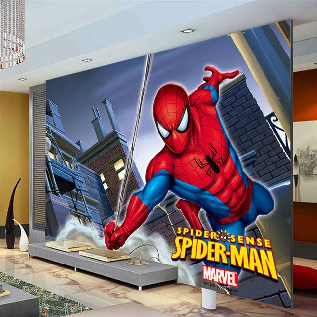 Marvel Spiderman Kids Boys Children Photo Wallpaper Custom Super Hero Wall Mural Home Decoration Room