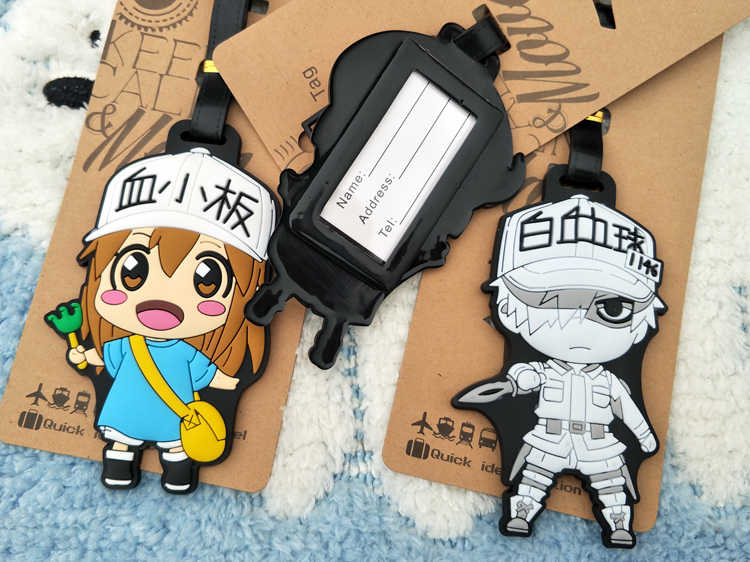 Ivyye Sel Bekerja Anime Tindakan Q Versi Angka Kartun Bagasi PVC Koper Gambar Ornamen Kategori Mainan Hadiah Baru