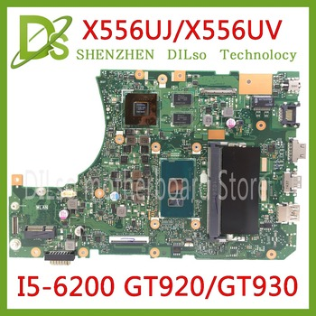 KEFU X556UJ X556UV motherboard for ASUS X556U X556UV X556UF X556UR laptop motherboard I5-6200U CPU GT920/GT930/GT940 Test