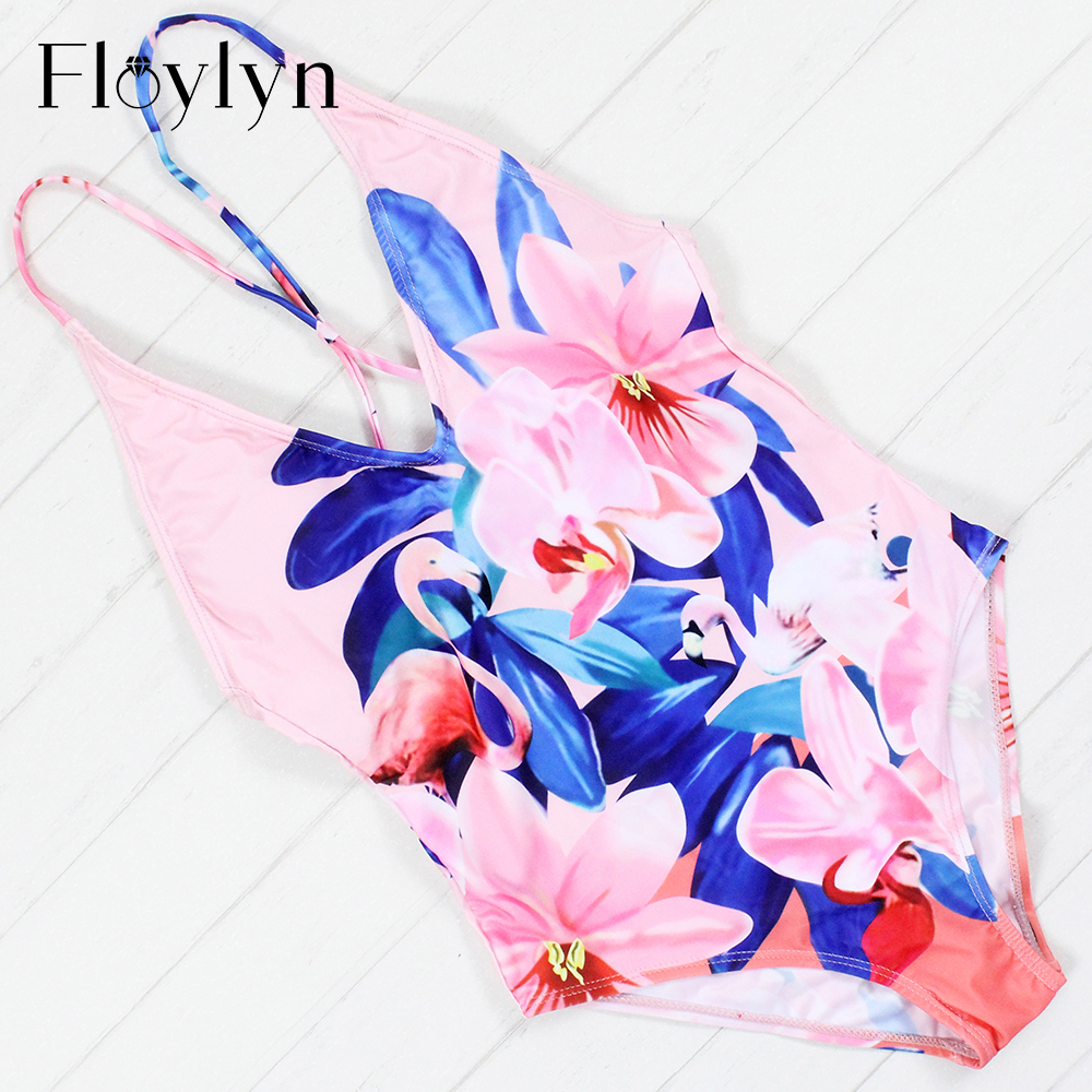 Floylyn One Piece Swimsuit Digital Print Sexy Swimwear Women One Piece High Cut Bathing Suit Maillot De Bain Floral Swimsuit one piece swimsuits trikinis high cut thong swimsuit sexy strappy monokini swim suits high quality denim women s sports swimwear