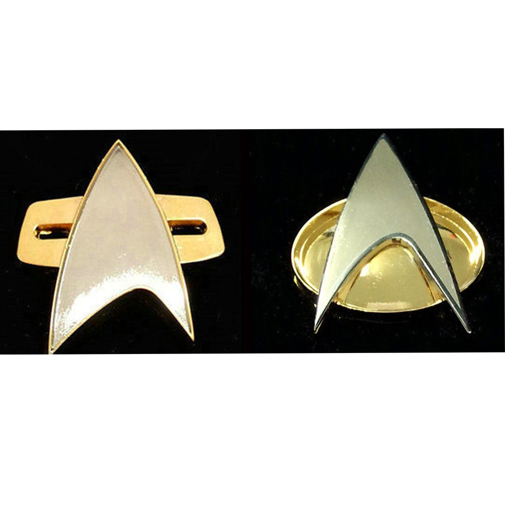 Star Trek Badge Pin The Next Generation Voyager Communicator Metal Alloy With Gift Box New Cosplay Insignia Party Halloween Prop