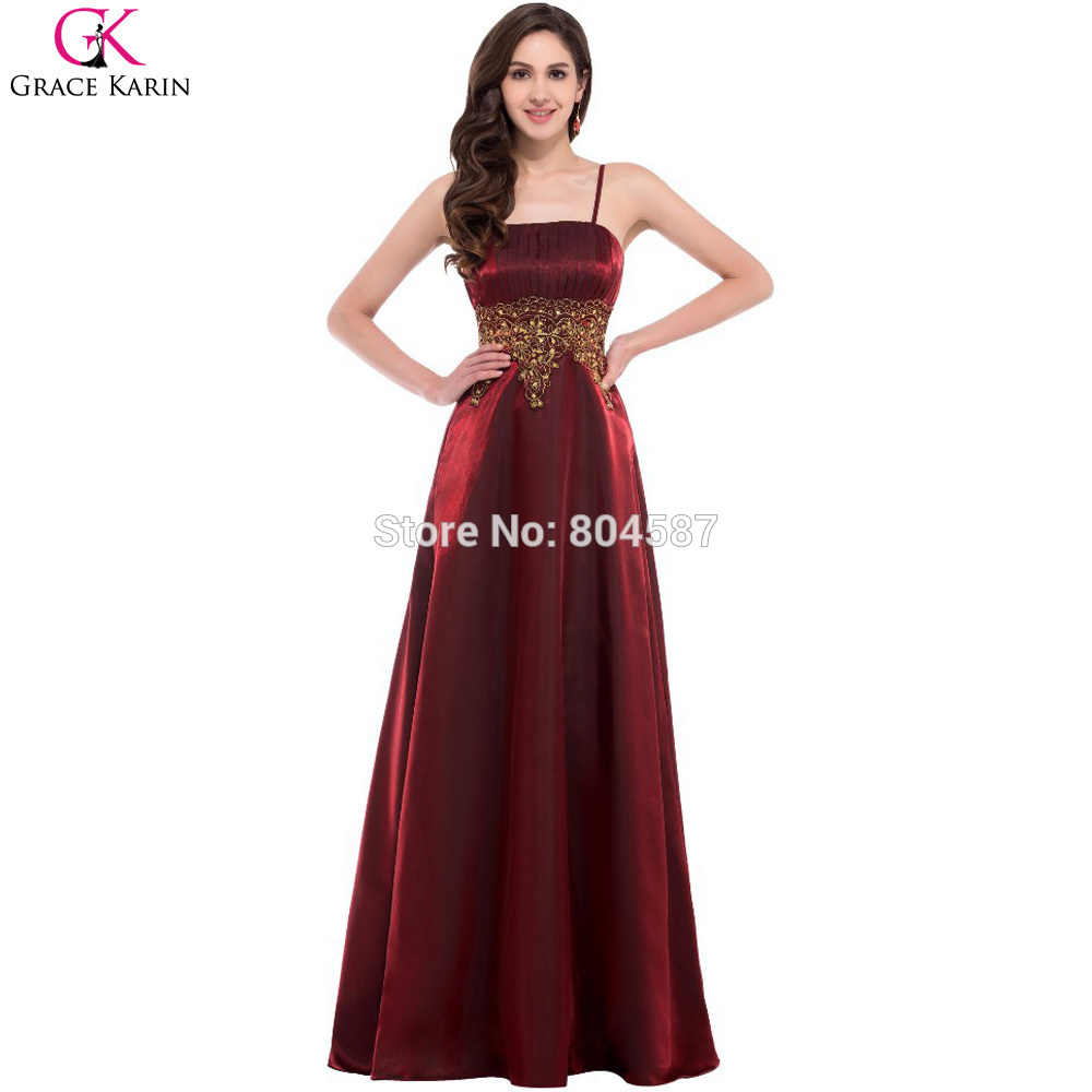 Spaghetti Strap Evening Party Dress Black Grace Karin Burgundy Red ...