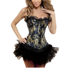 Wholesale Free P&P Recommend Sexy Lady/Girl's Boned Lace Up Back Corset Bustier Lingerie/G-string&TUTU Outfit S-6XL CT5