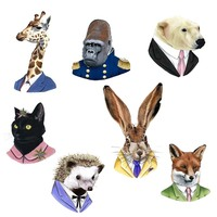 1 PCS Superimposed Animals Badges on BackpackFree Shipping Acrylic Badges Pin Icon Decoration Cartoon Icons for Backpack