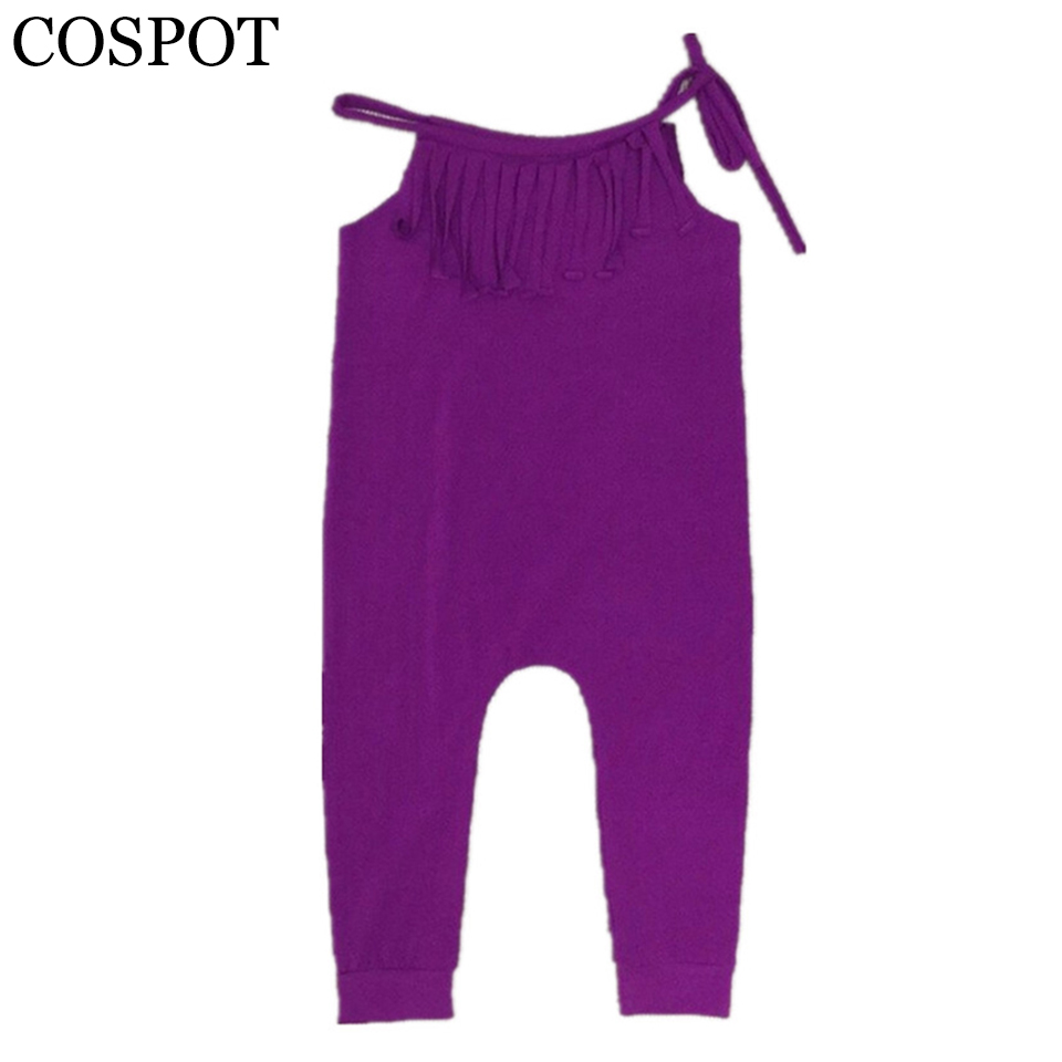 Fete de bebelusi Plain Purple Romper Girl vesta de bumbac de vara - Haine bebeluși