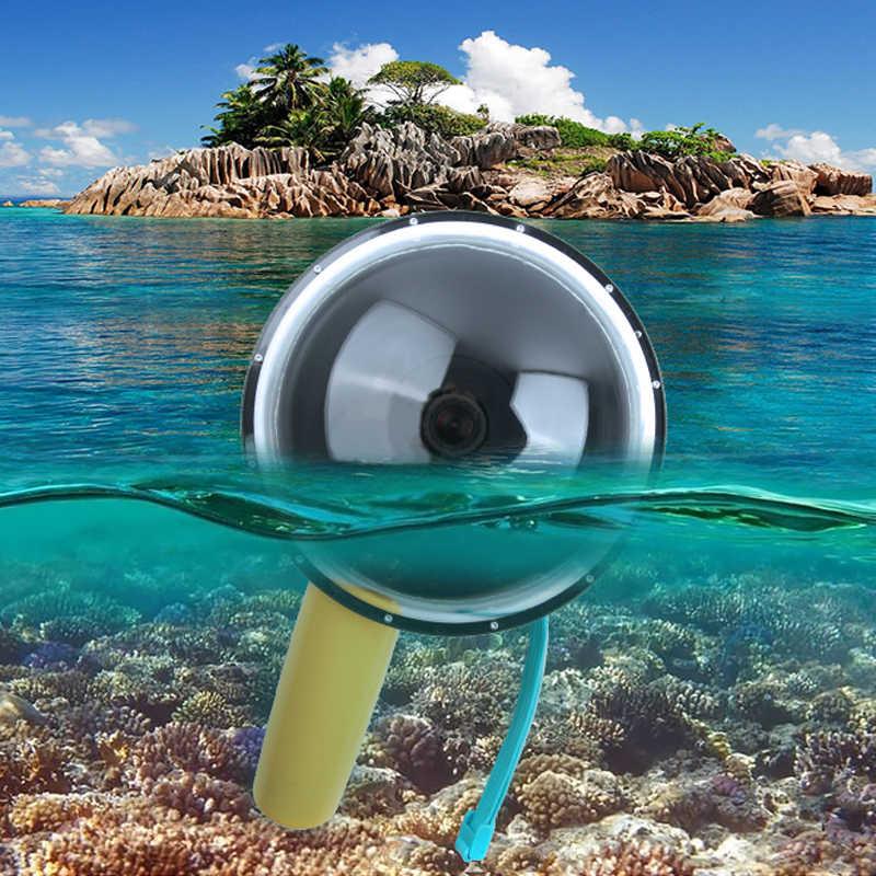 "6 ""Tahan Air Ringan Go PRO Lensa Dome Port Shell Cover Underwater Menyelam Housing Case Grip untuk Go Pro HERO 4 3 3 + Action Camera"