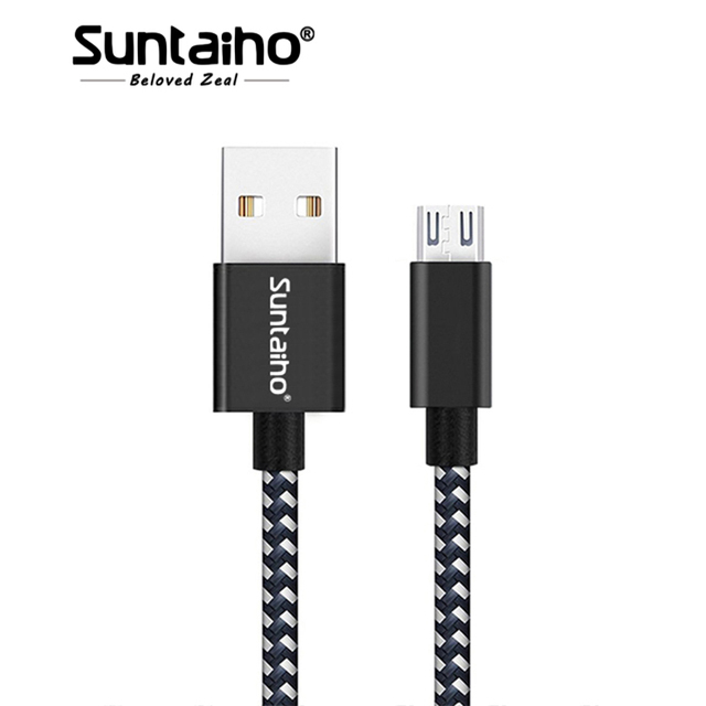 Micro USB Cable,Suntaiho 5V2.4A Nylon Braided Fast Charging Mobile Phone USB Charger Cable for Samsung/xiaomi/LG/Huawei/Meizu