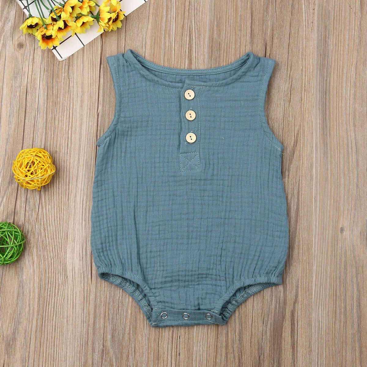 2019 г. летняя одежда для малышей новинка, боди без рукавов из 100% хлопка для маленьких девочек Цельный Сарафан без рукавов, одежда для детей от 0 до 24 месяцев