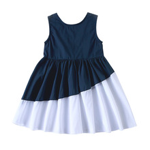 new baby girls dresses 2018 kids dresses for girls clothing cute lace princess christmas costume children clothes 3 14 years Girls Dress 2018 Summer Girls Bow Stitching Evening Dresses Baby Girls Party Dress For 3-14 Years Children Clothes Kids Clothing