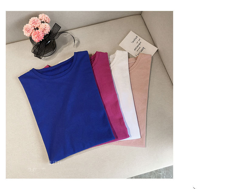 Candy Color Short Sleeve Loose T-Shirts Girls Summer 19 New Cool O-Neck Boyfriend Student Women T-Shirt Lady Tops Plus Size 22