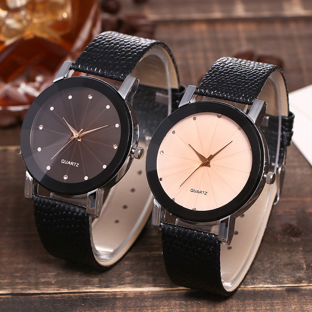 Simple Fashion Women's Ladies Watch Symmetrical Axis Dial Quartz Wrist Watch жн Saat Dames Horloges Horloge Dames Relojes Mujer