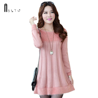 ASLTW Women's Sweater New Casual Loose Mohair Long Sweater Plus Size Fashion Knitwear A line Pullover Dress Sweater For Women